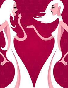 Любовный гороскоп женщины-Близнецы