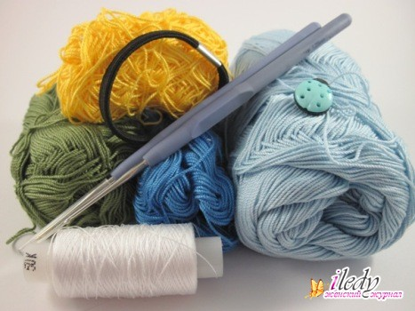 материалы для вязания резинки крючком, фото