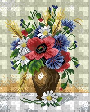 Схемы вышивки крестиком цветы бесплатно