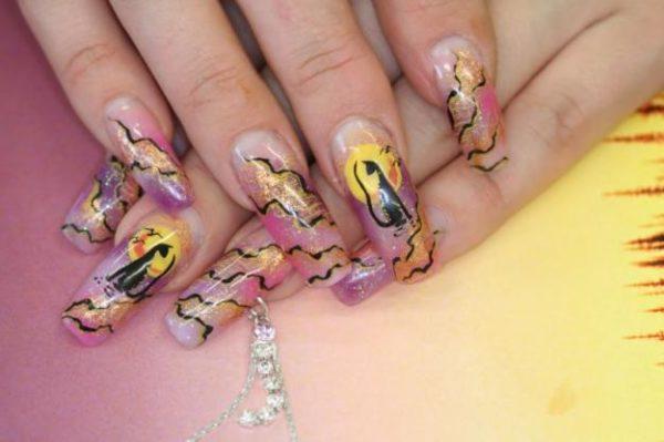 Рисунки на ногтях гелевыми ручками - идеи и приемы