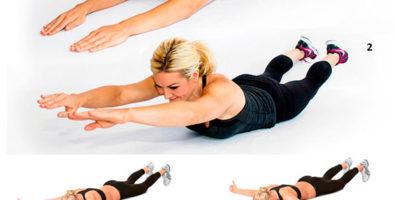 Что делать, чтобы похудела спина? Упражнения