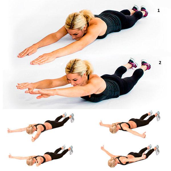 как похудеть в спине упражнения