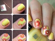 Рисунки на ногтях для начинающих — как нанести рисунок кисточкой или иголкой