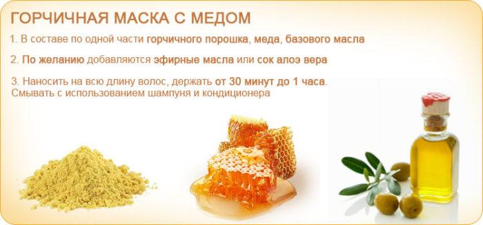 gorchichnaya-maska-dlya-volos-s-medom