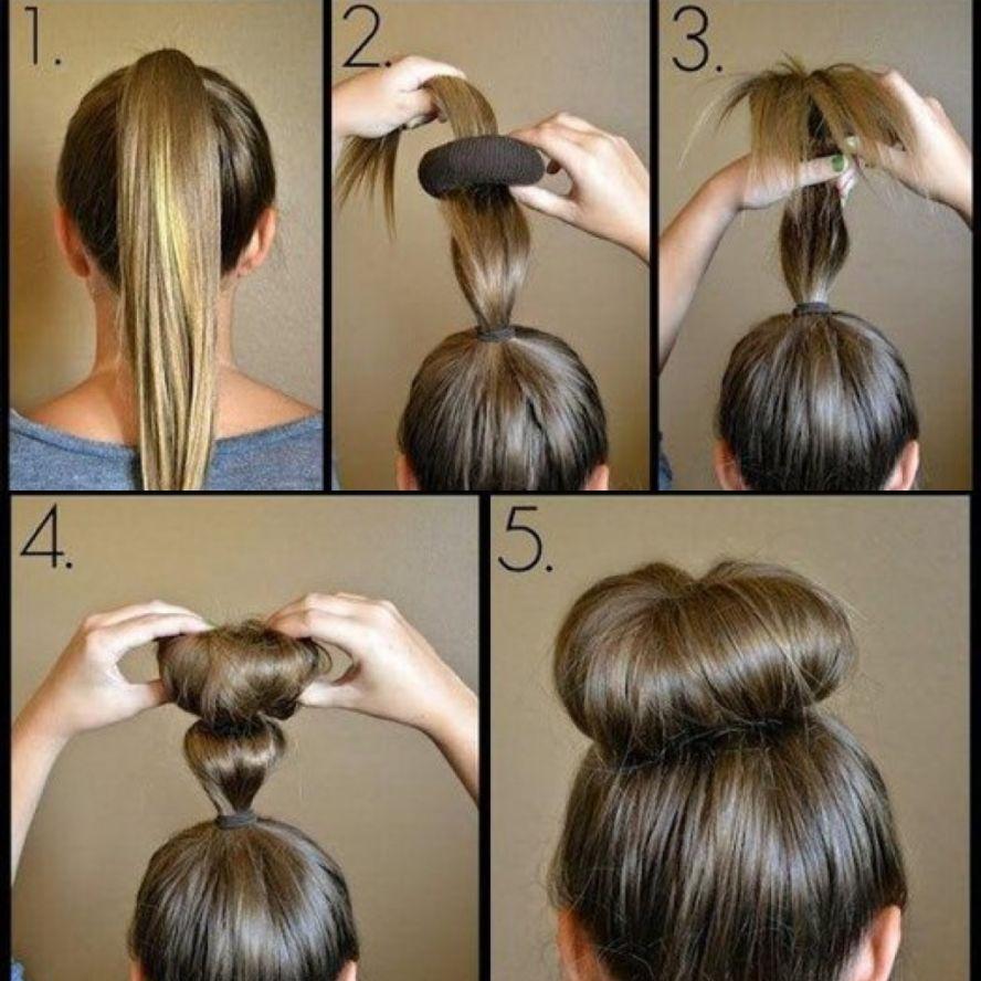 Как сделать пучок на голове: красивые варианты прически