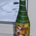 Новогодний декупаж бутылки шампанского, пошаговый мастер — класс