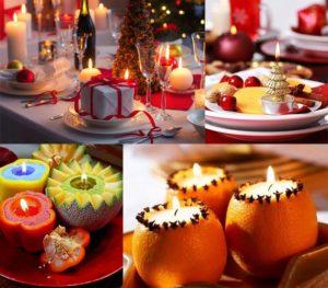 Украшение новогоднего стола 2017 и декор своими руками: лучшие идеи