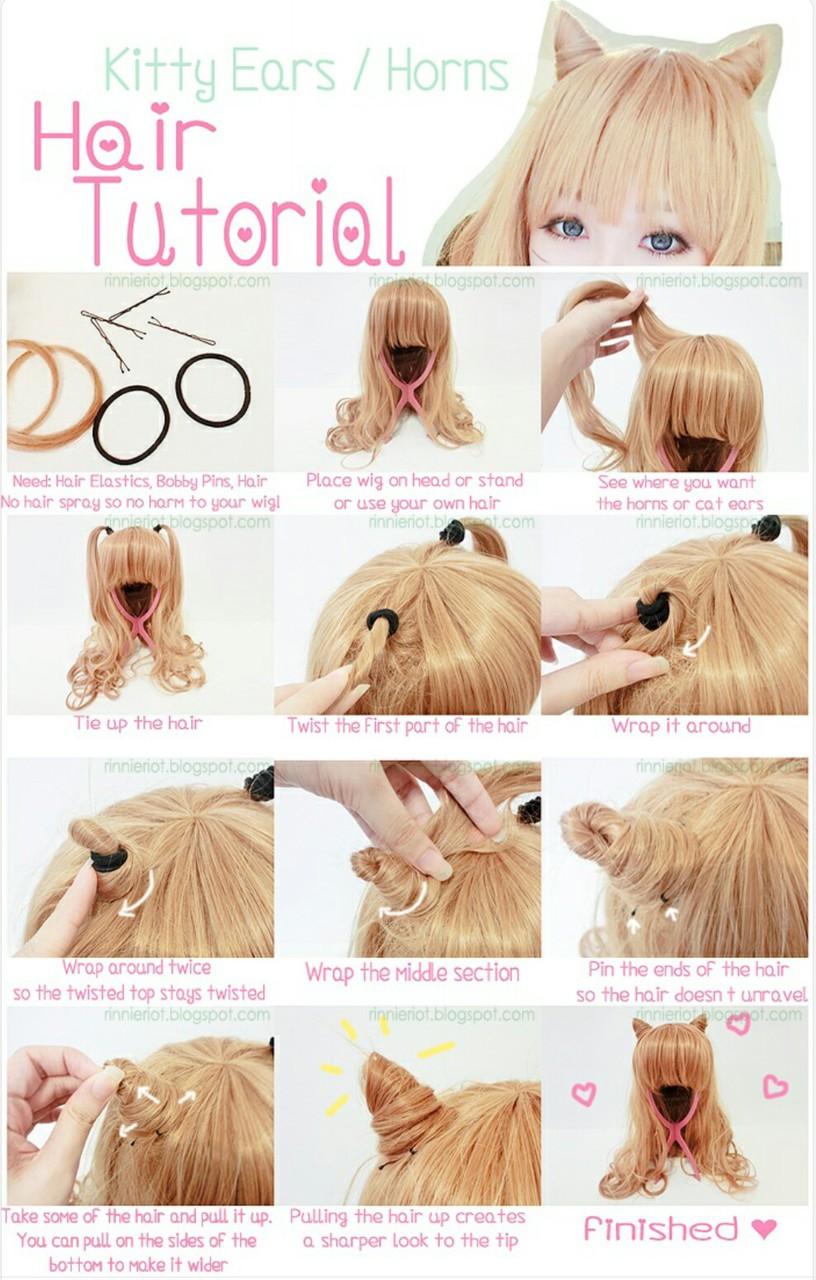 Прическа - рожки из волос - пошагово с фото