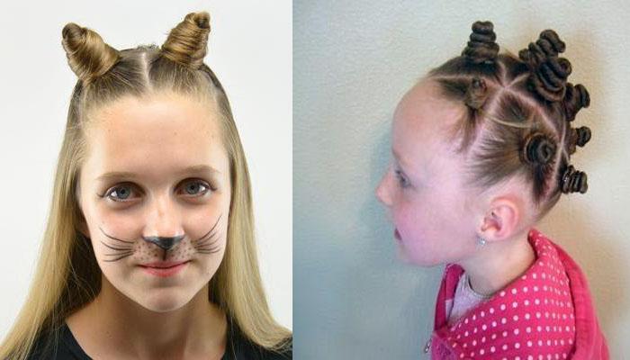 191Как сделать рожки из волос на голове ребенку