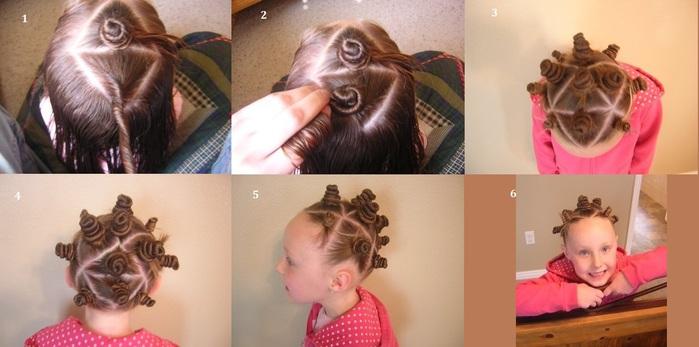 147Как сделать рожки из волос на голове ребенку