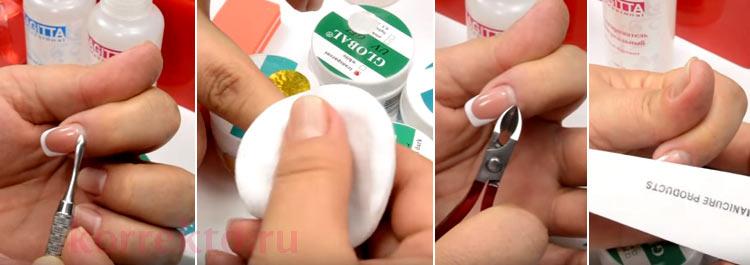 Как правильно сделать коррекцию ногтей своих 132