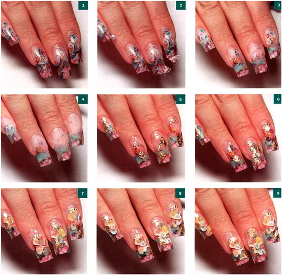 Как сделать коррекцию на акриловые ногти
