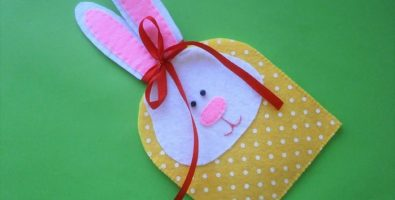 Пасхальный подарочный мешочек «Зайчик»