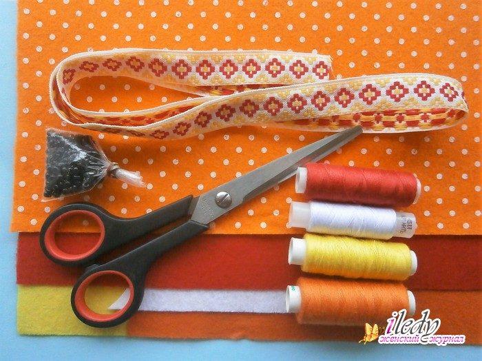 Пасхальная сумочка из фетра в виде курочки, мастер - класс с пошаговыми фото