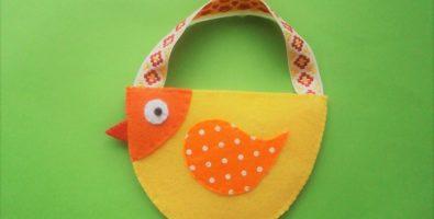 Маленькая пасхальная сумочка «Курочка»