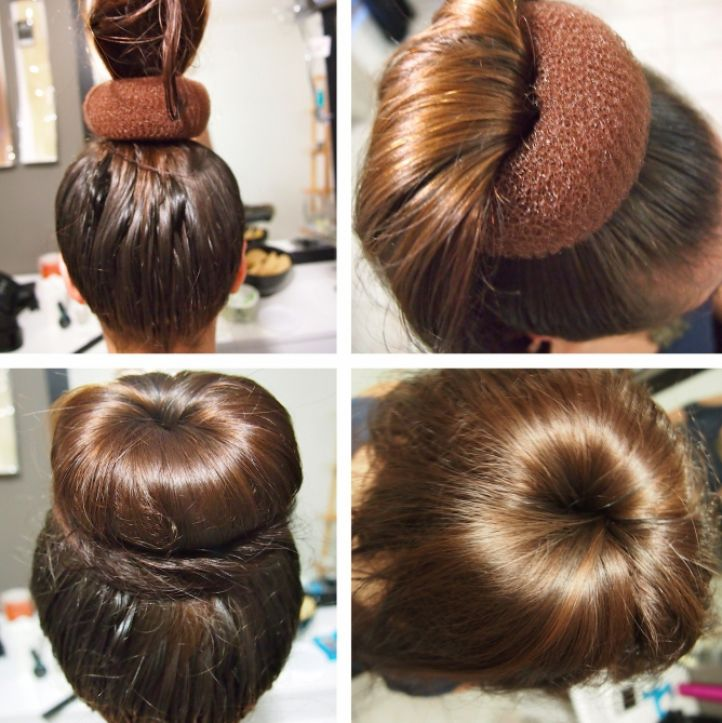 Бублик для волос причёски