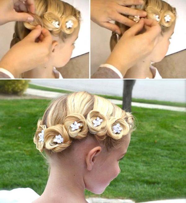 Детские прически с ленточками для волос