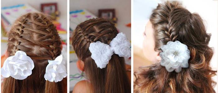 Прически на 1 сентября на длинные волосы для старшеклассницы