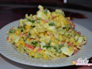 Самые вкусные салаты с крабовыми палочками — 7 рецептов