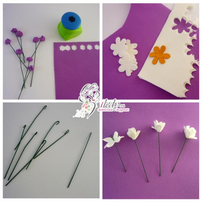 Ободок из фоамирана - 3 мастер - класса с цветами, как сделать своими руками