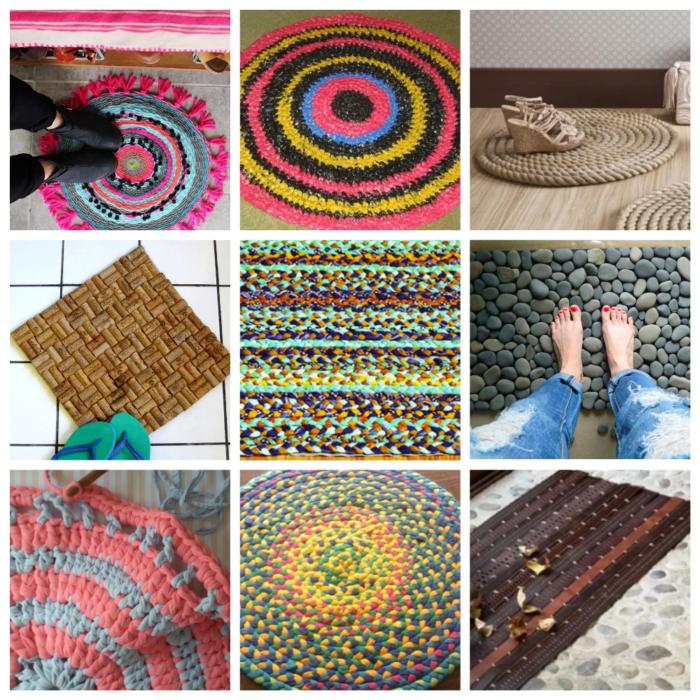 Домашние коврики своими руками - 11 идей с фото
